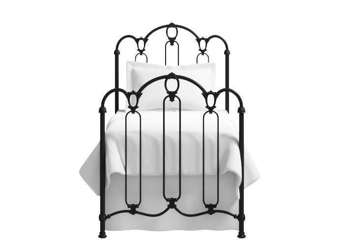 Windsor single iron bed in glossy ivory