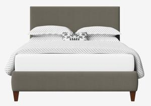 Yushan Upholstered Bed in Grey fabric