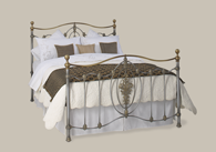 Ardmore Iron Bed with Brass from Original Bedstead Company - Euro Site.
