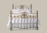 Camolin Iron Bed with Brass from Original Bedstead Company - Euro Site.