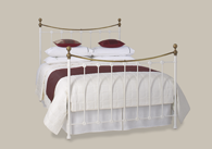 Carrick Iron Bed with Brass from Original Bedstead Company - Euro Site.