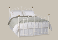 Clarina Iron Bed with Brass from Original Bedstead Company - Euro Site.