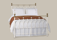 Glenholm Iron Bed with Brass from Original Bedstead Company - Euro Site.