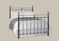 Hamilton Iron Bed with Brass from Original Bedstead Company - New Zealand.