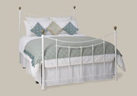 Virginia Iron Bed with Brass Bedstead from Original Bedstead Company - Euro Site.