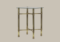 Brass Bedside Table from Original Bedstead Company - Ireland.