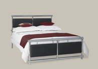 Tay Chrome Leather Bedstead from Original Bedstead Company - Euro Site.