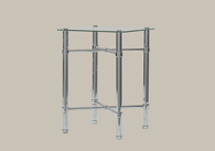 Chrome Bedside Table from Original Bedstead Company - Ireland.