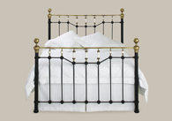 Glenshee Iron Bed with Brass Bedstead from Original Bedstead Company - Euro Site.