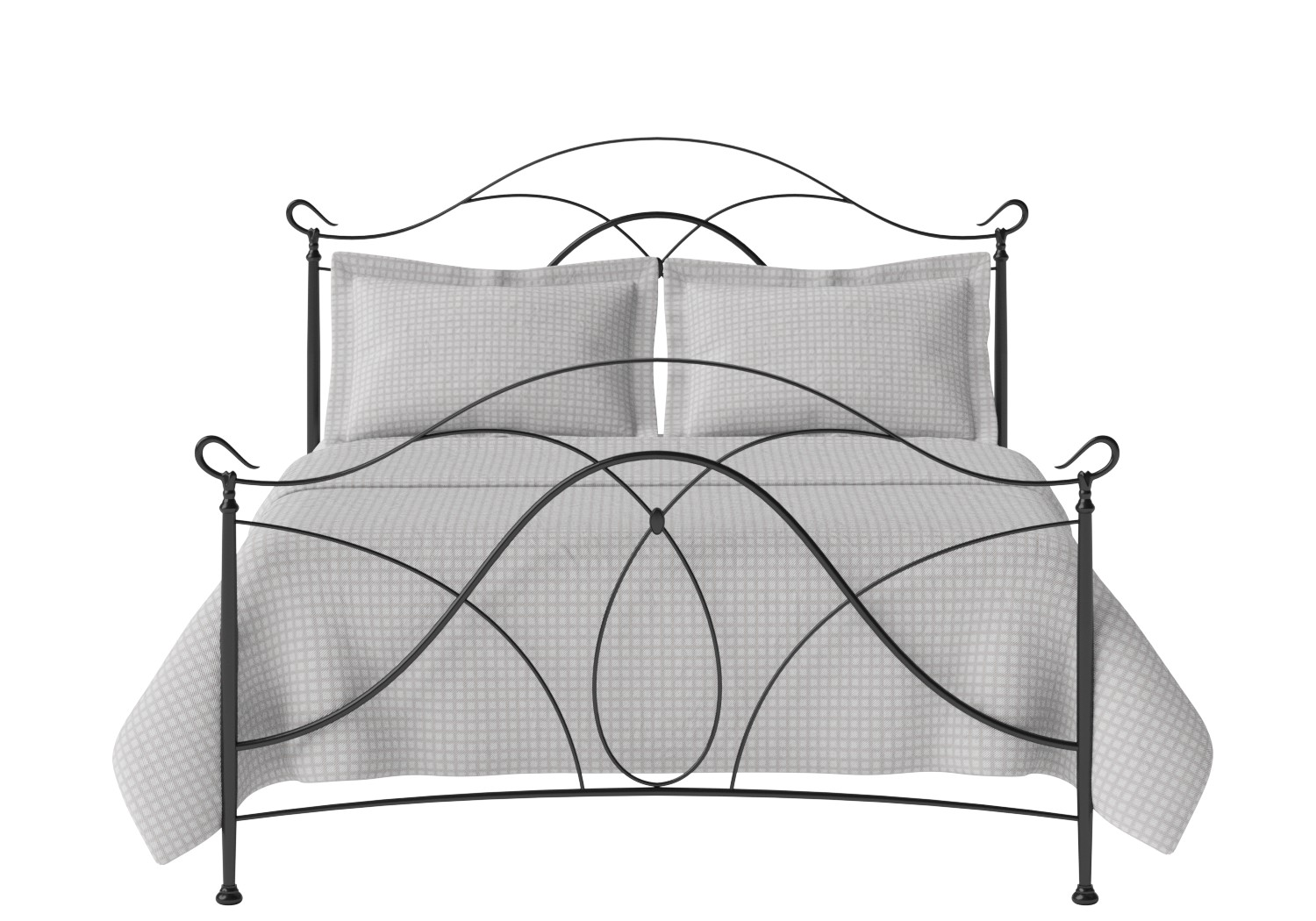 Ardo Iron/Metal Bed in Satin Black