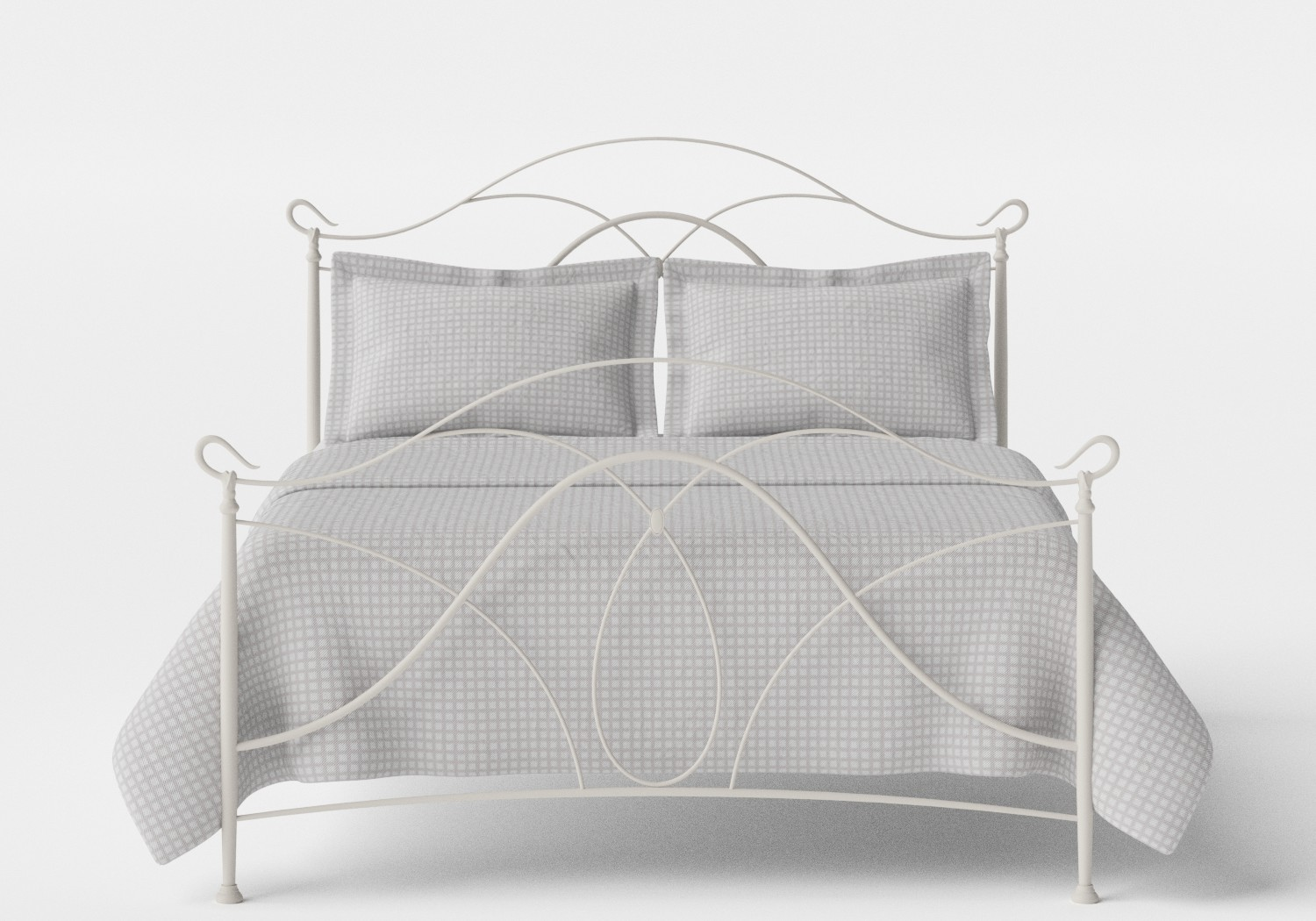 Ardo Iron/Metal Bed in Glossy Ivory