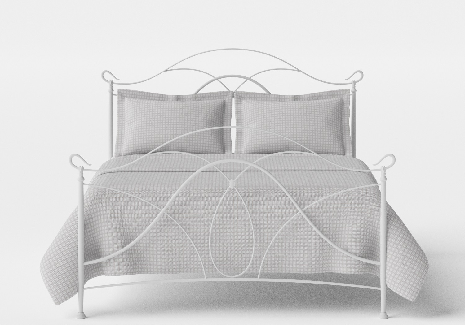 Ardo Iron/Metal Bed in Satin White