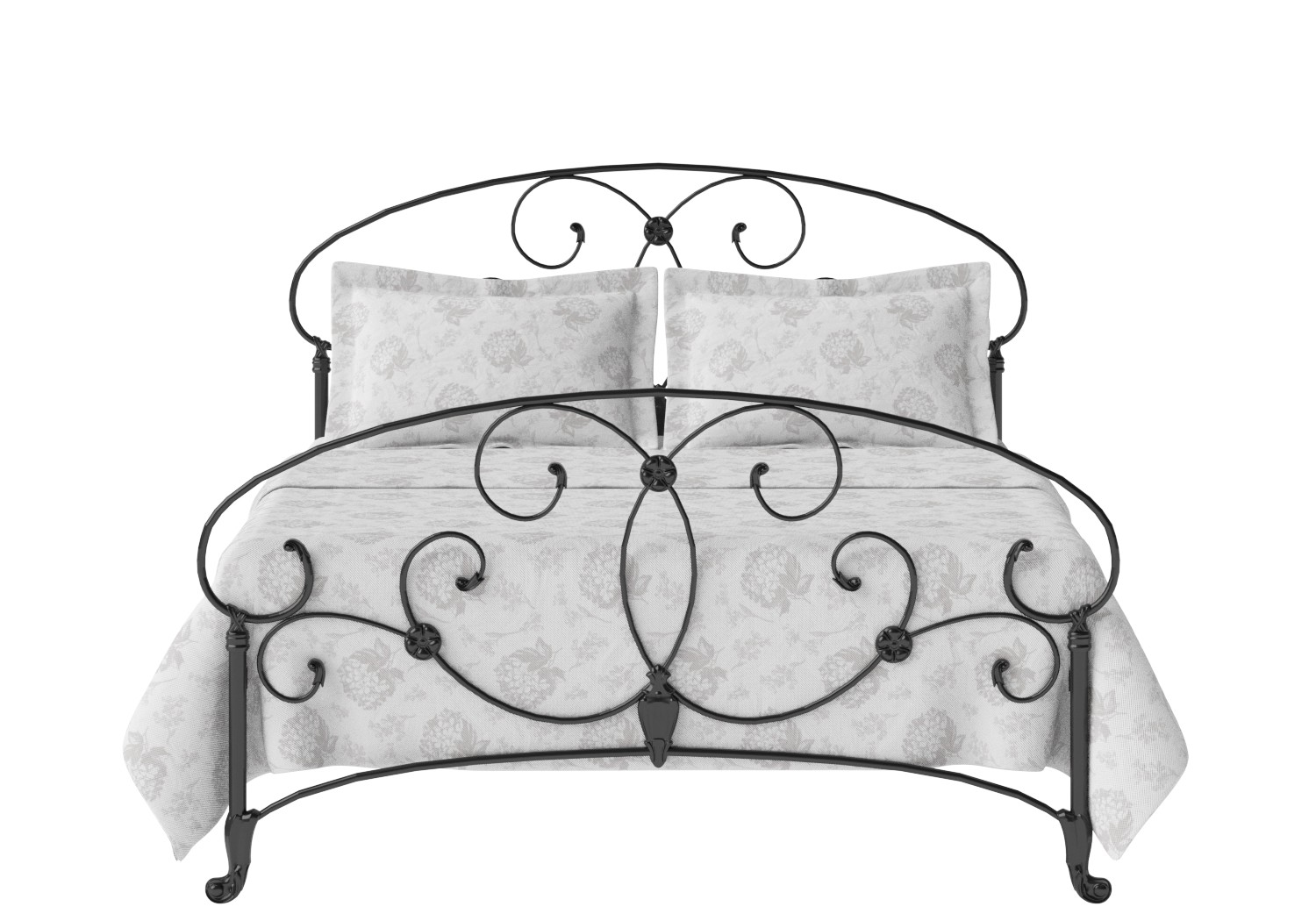 Arigna Iron/Metal Bed in Satin Black
