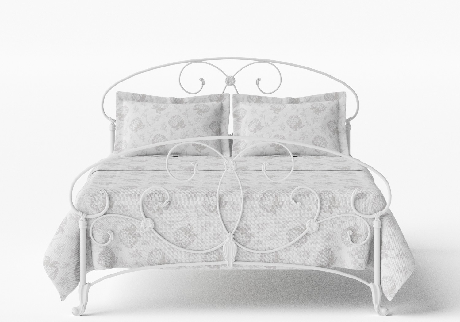 Arigna Iron/Metal Bed in Satin White