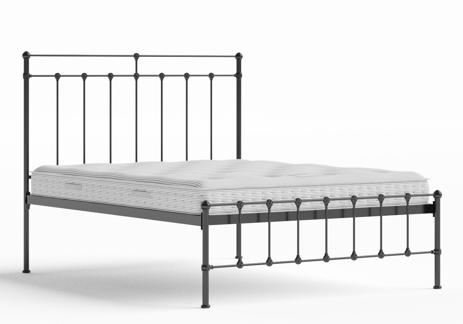 Ashley Iron/Metal Bed in Satin Black shown with Juno 1 mattress