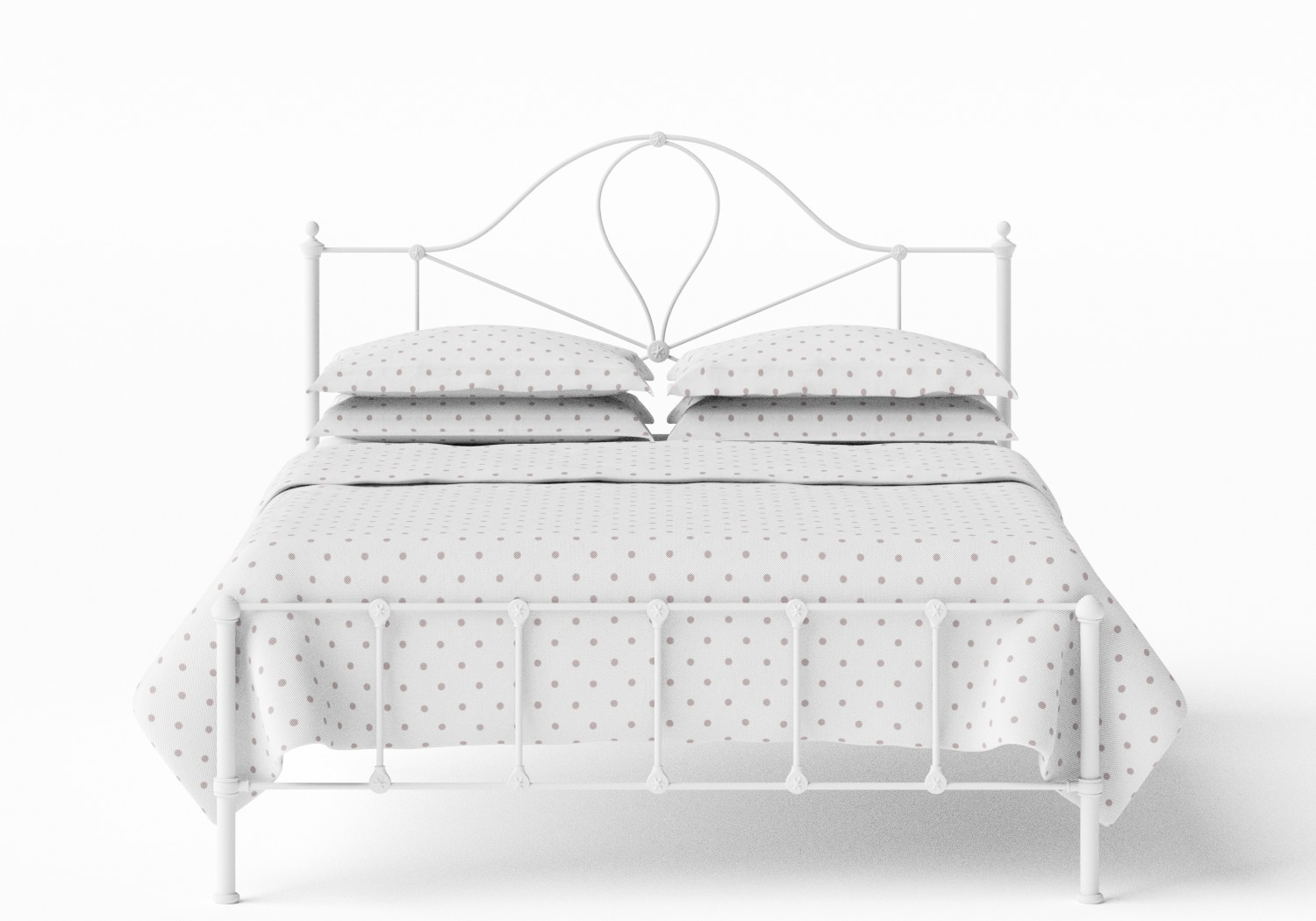 Athena Iron/Metal Bed in Satin White