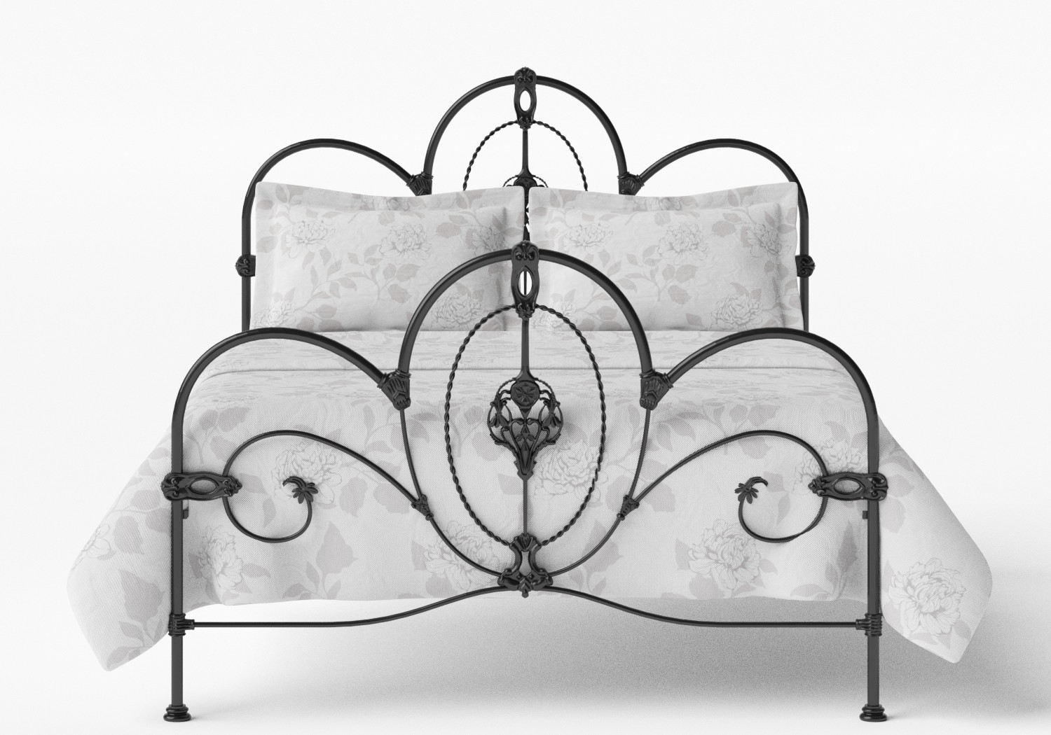 Ballina Iron/Metal Bed in Satin Black