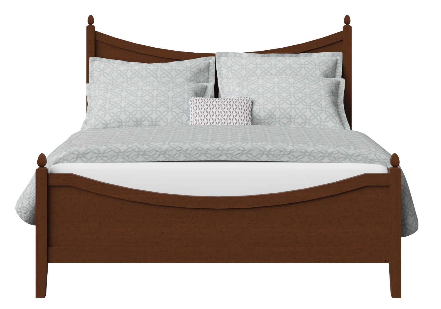 Blake Low Footend Wood Bed in Dark Cherry