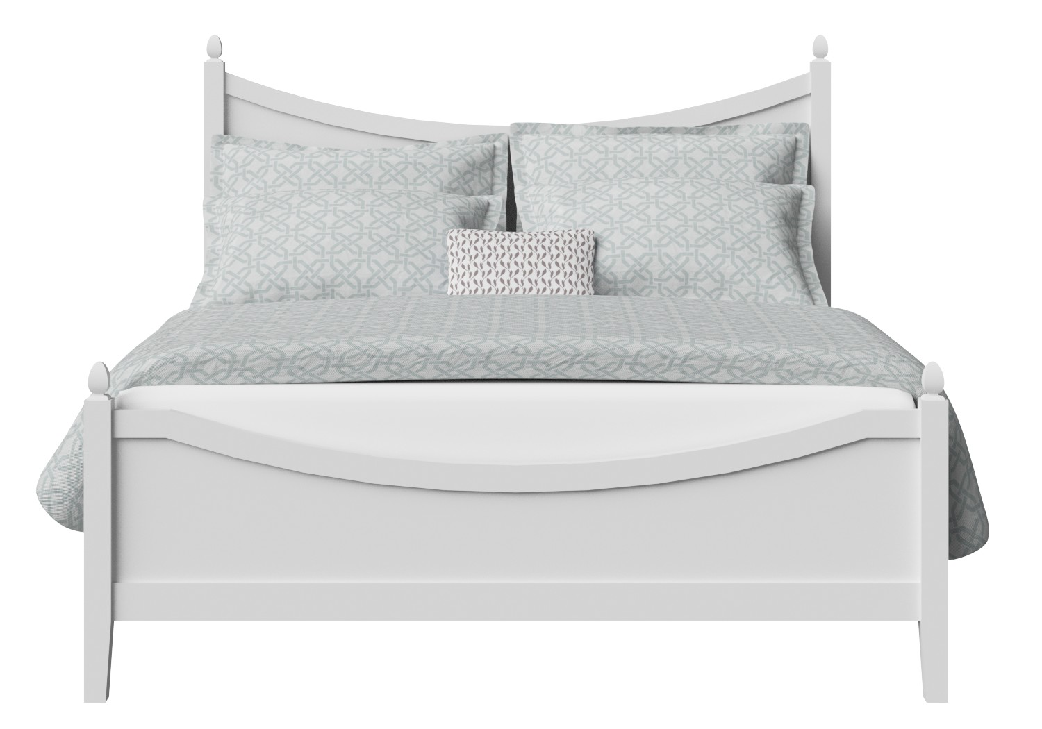 Blake Low Footend Wood Bed in White
