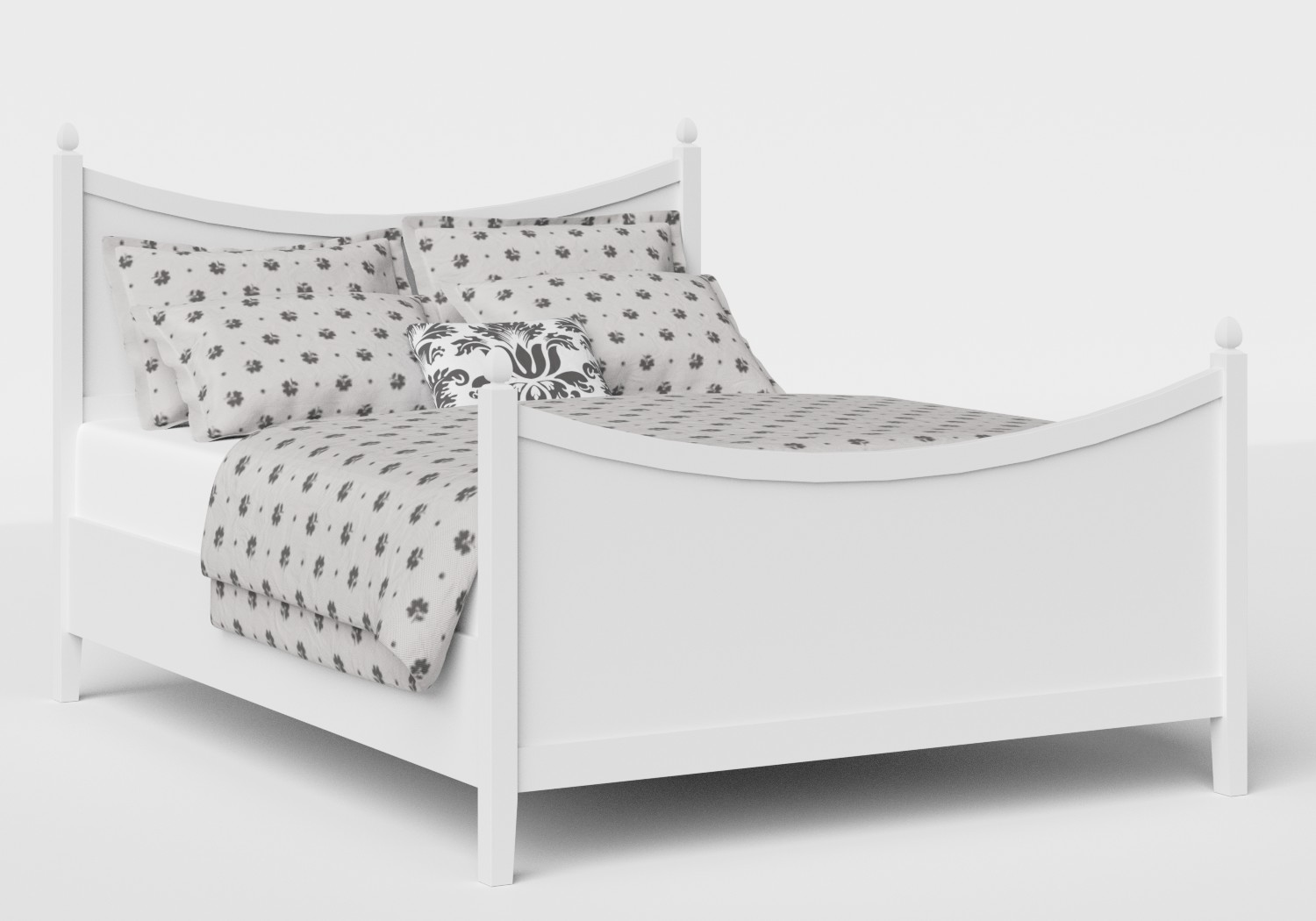 Blake Wood Bed in White