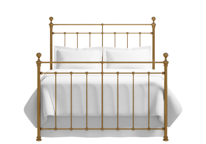 Blyth bed in a brass finish