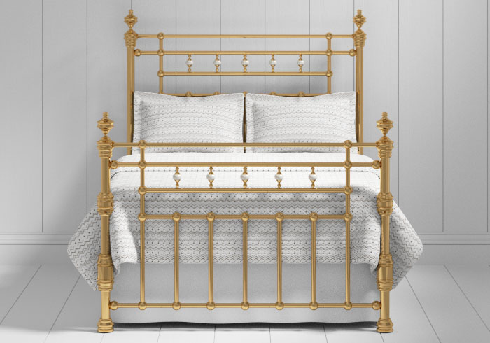 Boyne bed in a antique brass finish