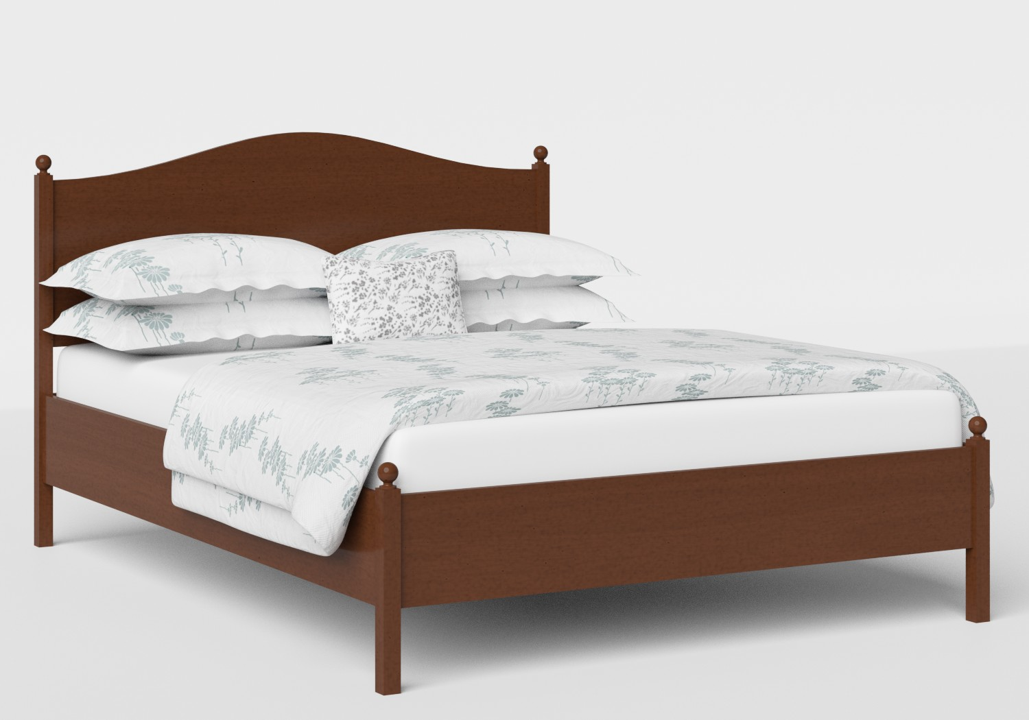 Brady Wood Bed in Dark Cherry