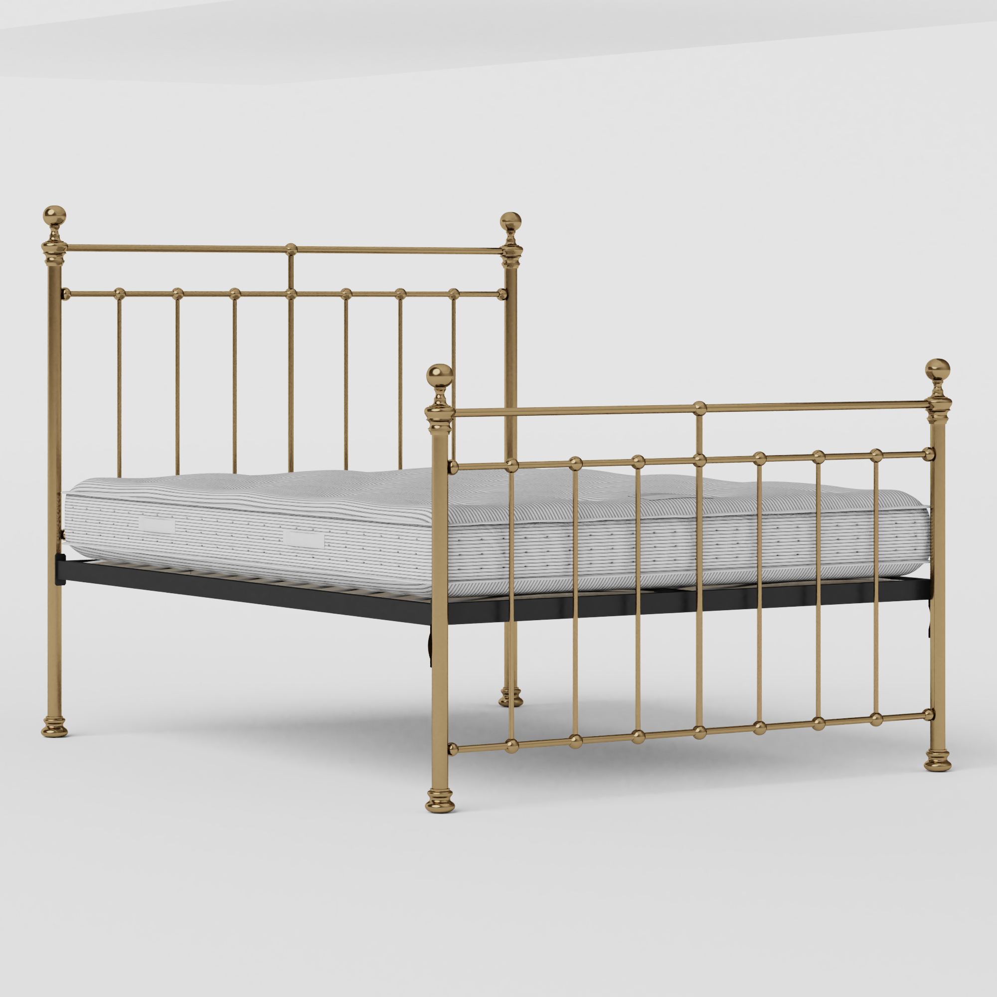 Blyth brass bed with Juno mattress