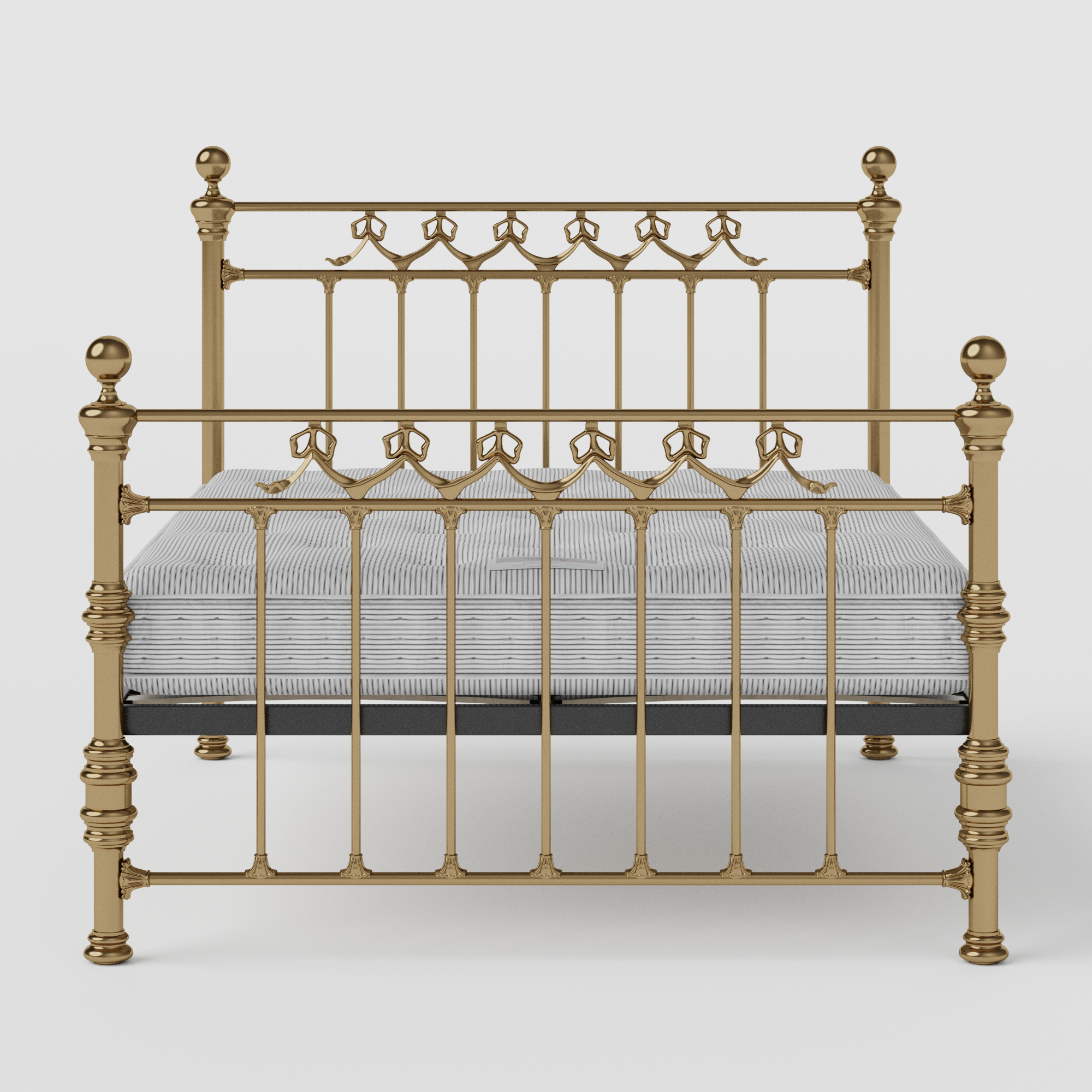 Braemore brass bed with Juno mattress