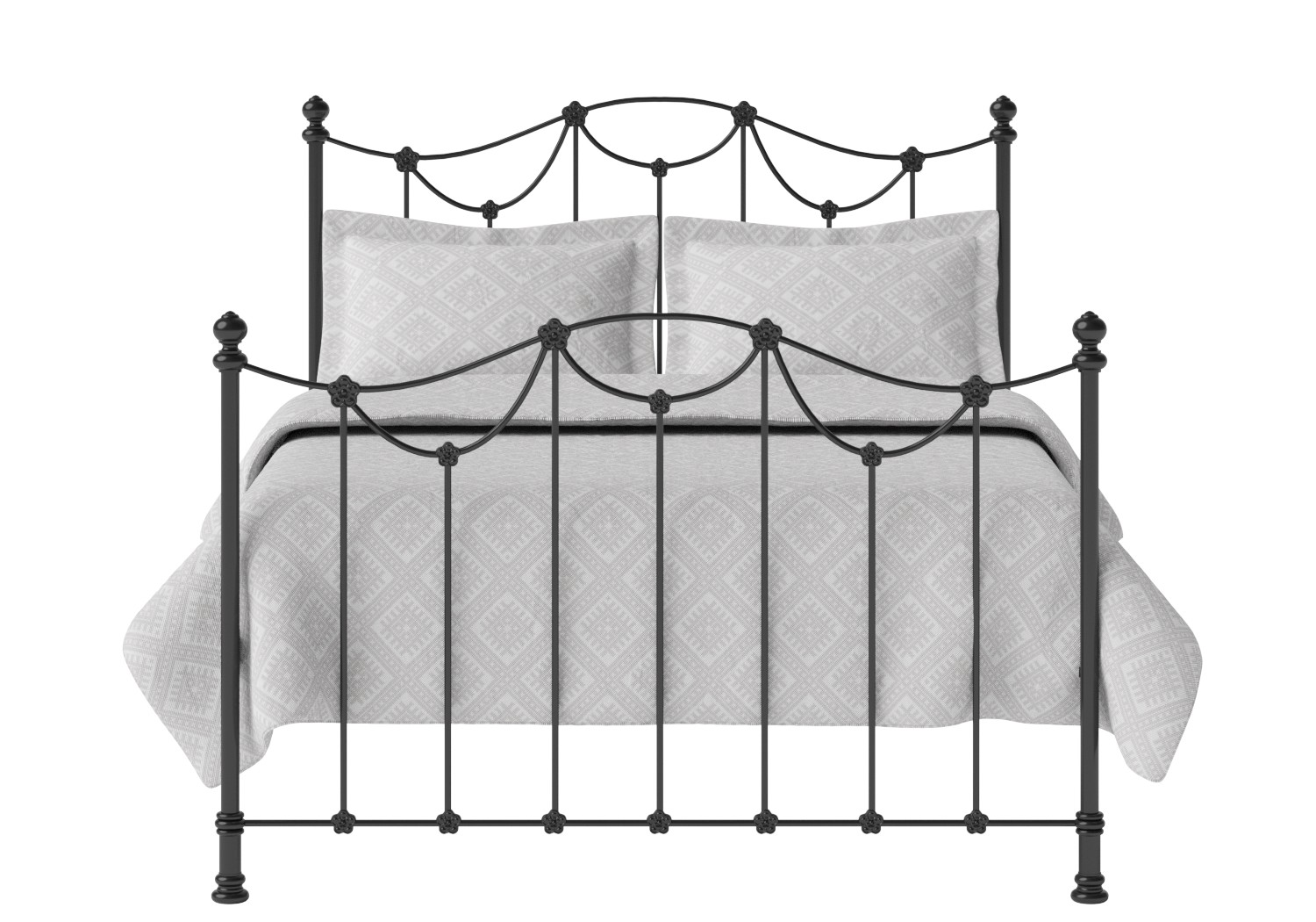 Carie Iron/Metal Bed in Satin Black