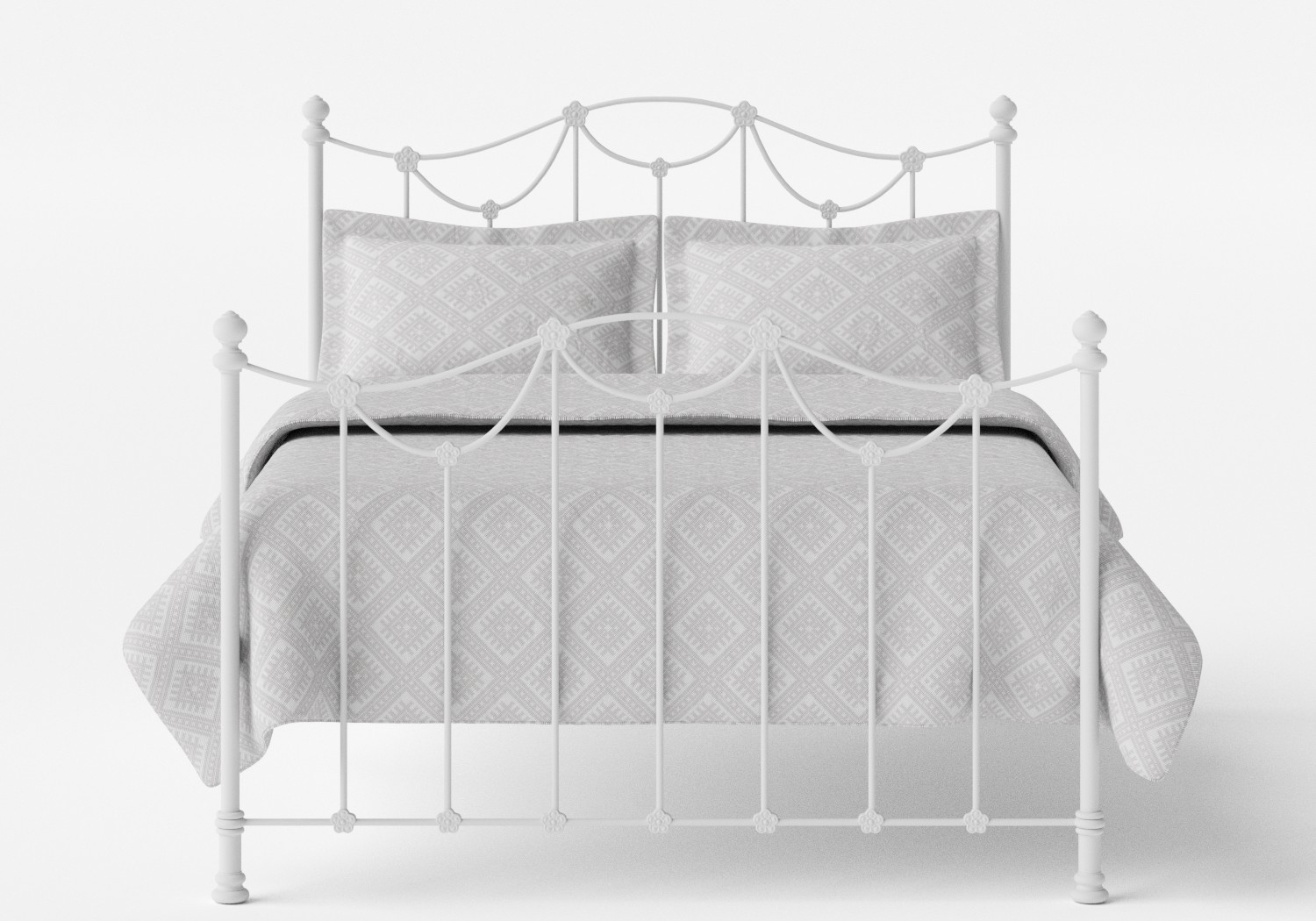 Carie Iron/Metal Bed in Satin White
