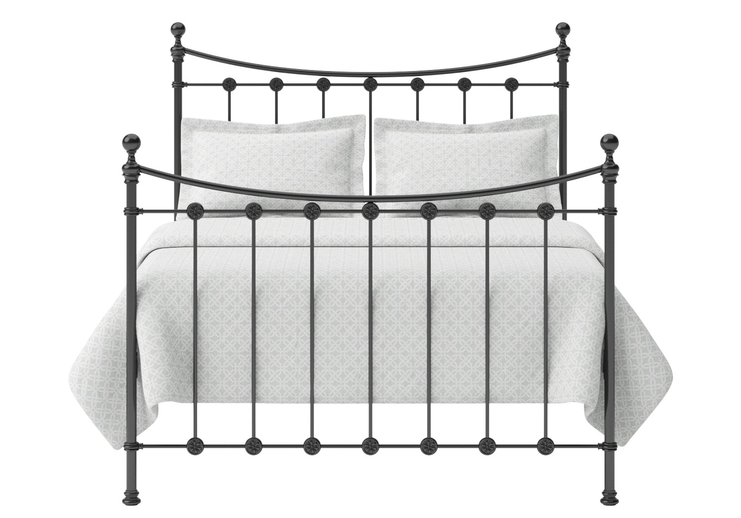Carrick Iron/Metal Bed in Satin Black with black painted details