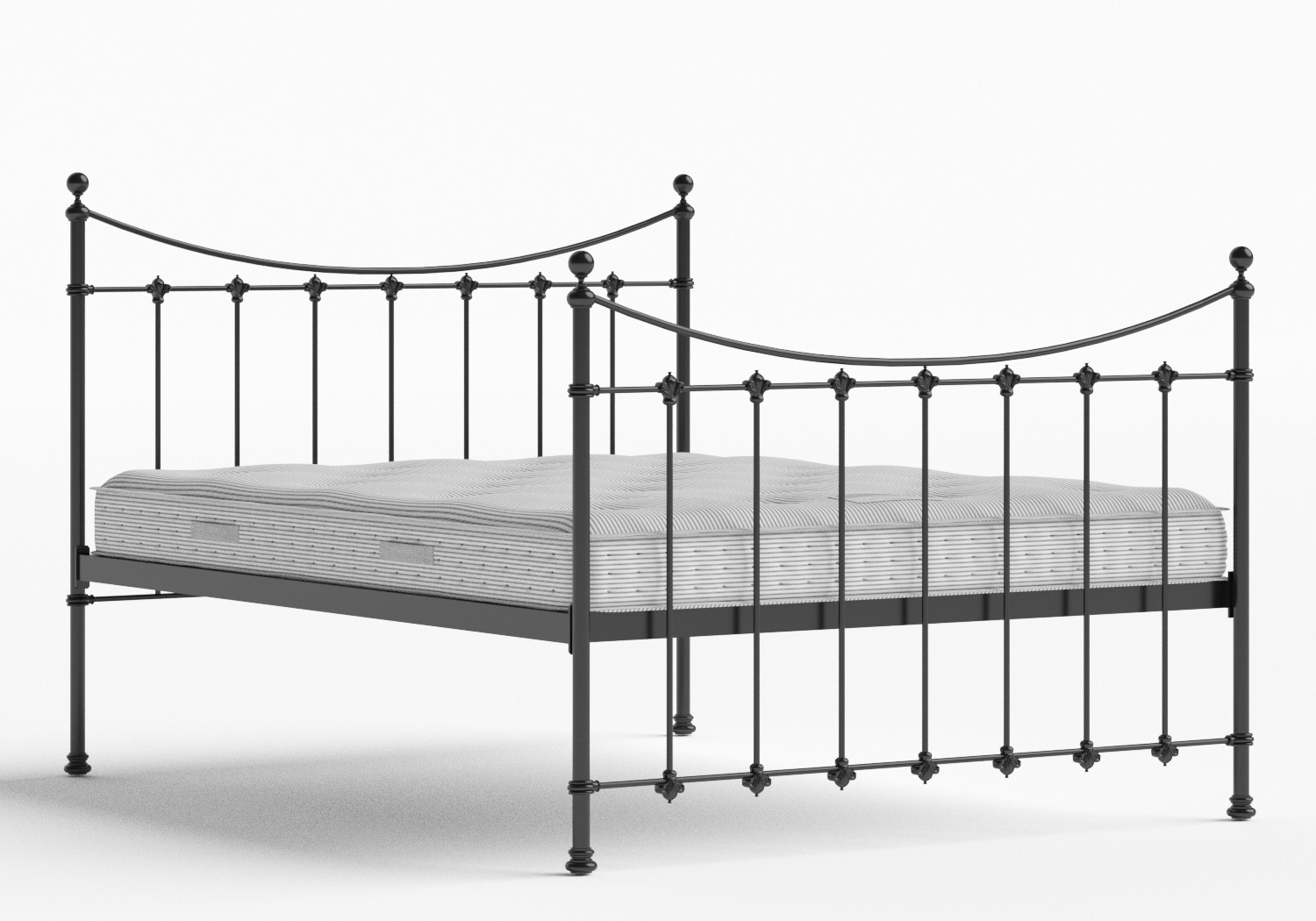 Chatsworth Iron/Metal Bed in Satin Black shown with Juno 1 mattress