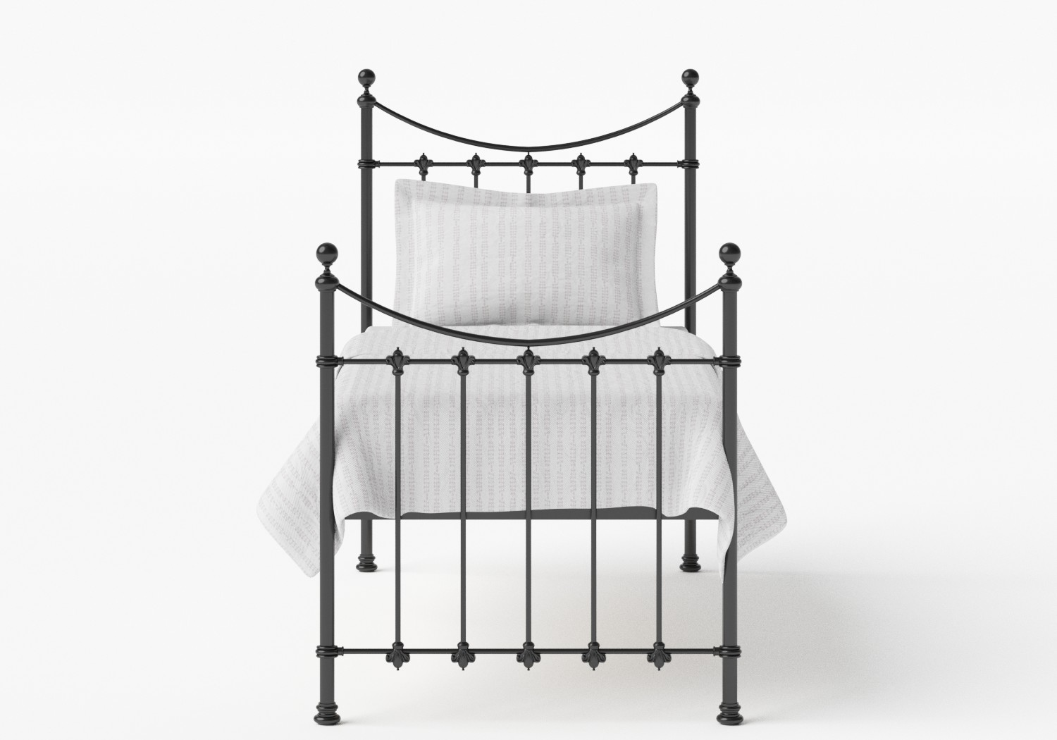 Chatsworth Single Iron/Metal Bed in Satin Black