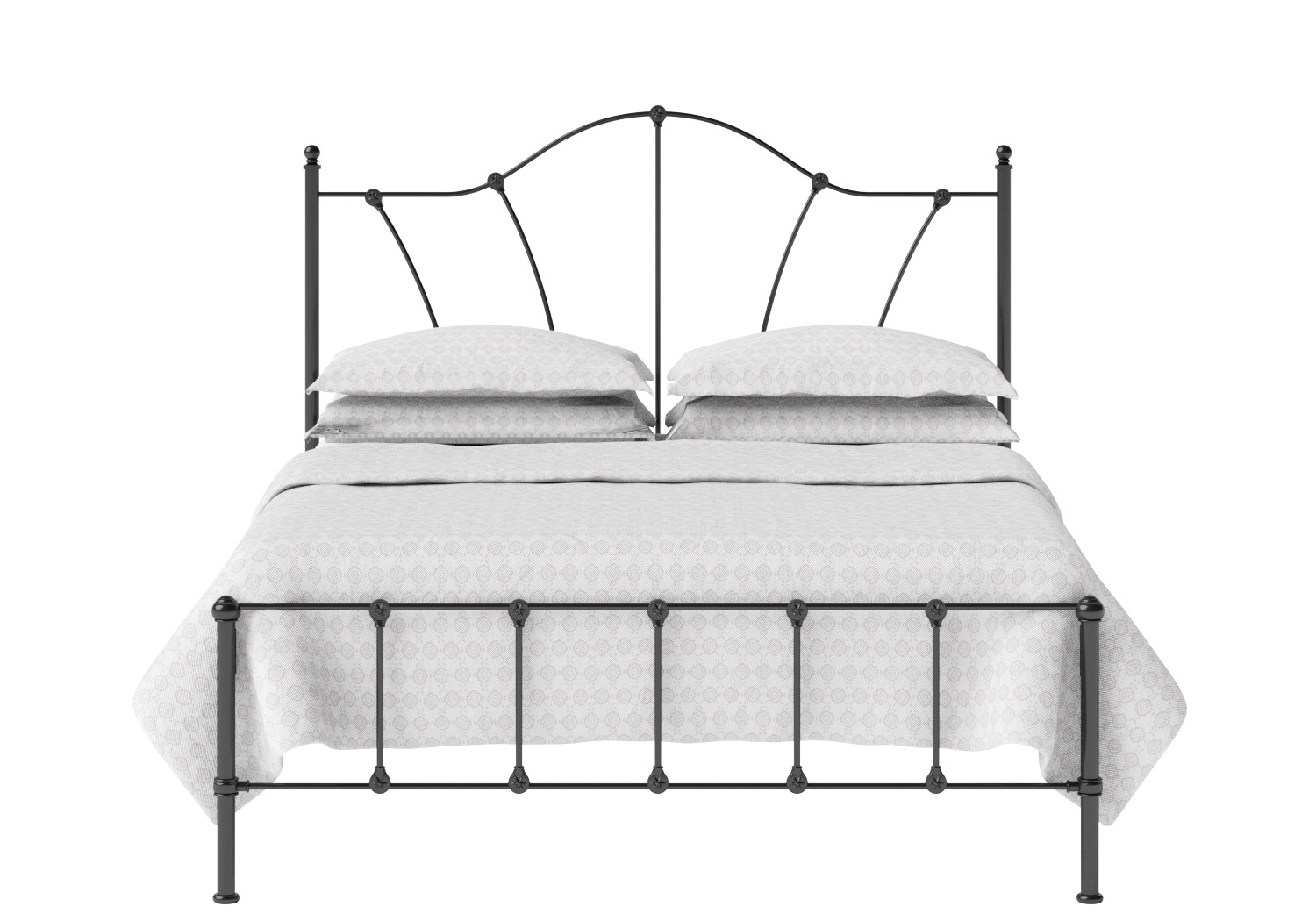 Claudia Iron/Metal Bed in Satin Black
