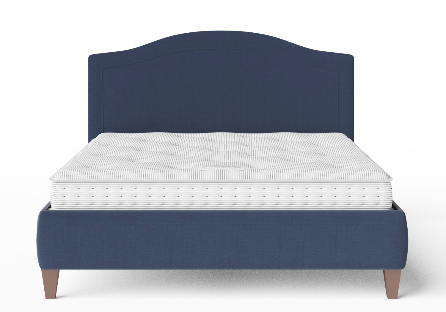 Daniella Upholstered bed in Navy fabric with shown with Juno 1 mattress