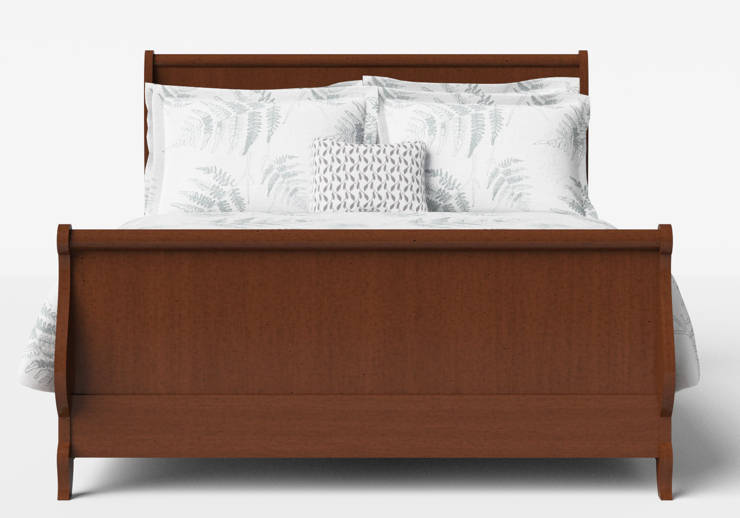 Elliot Wood Bed in Dark Cherry