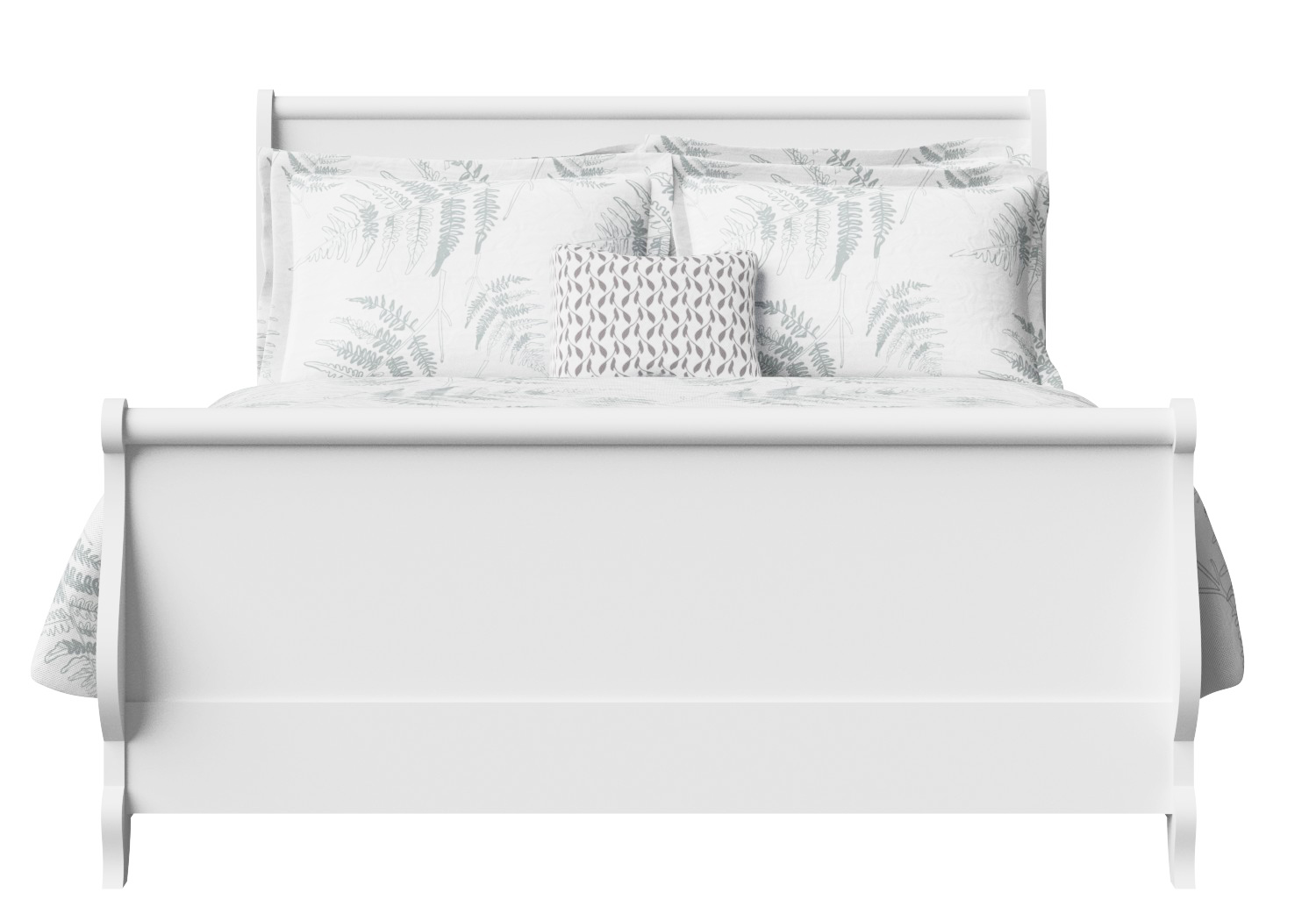 Elliot Wood Bed in White
