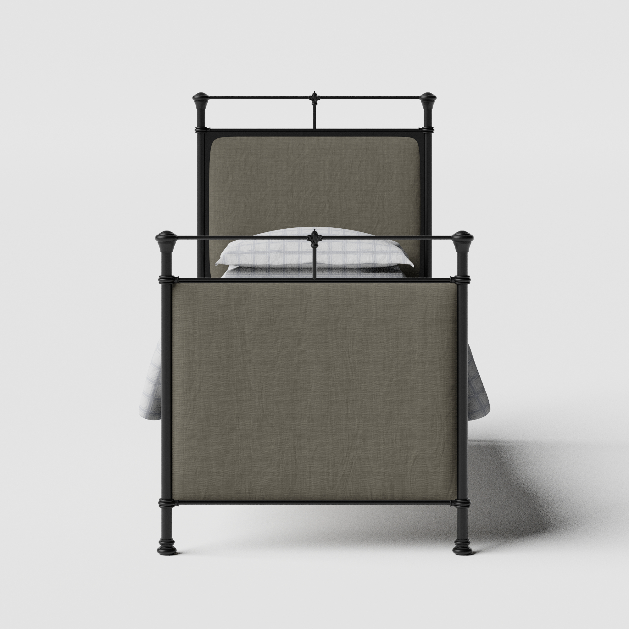 Lille iron/metal single bed in black