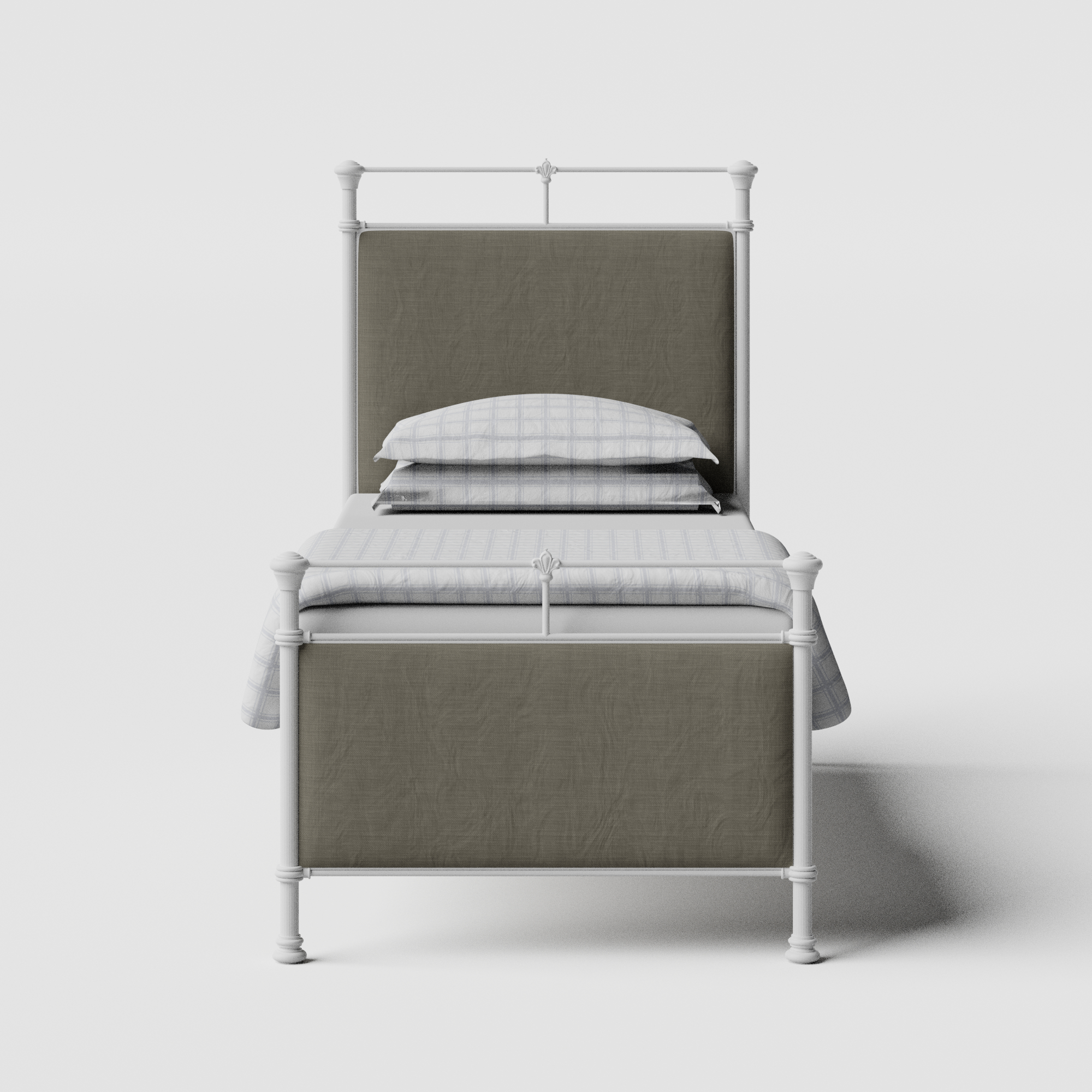 Nancy iron/metal single bed in white