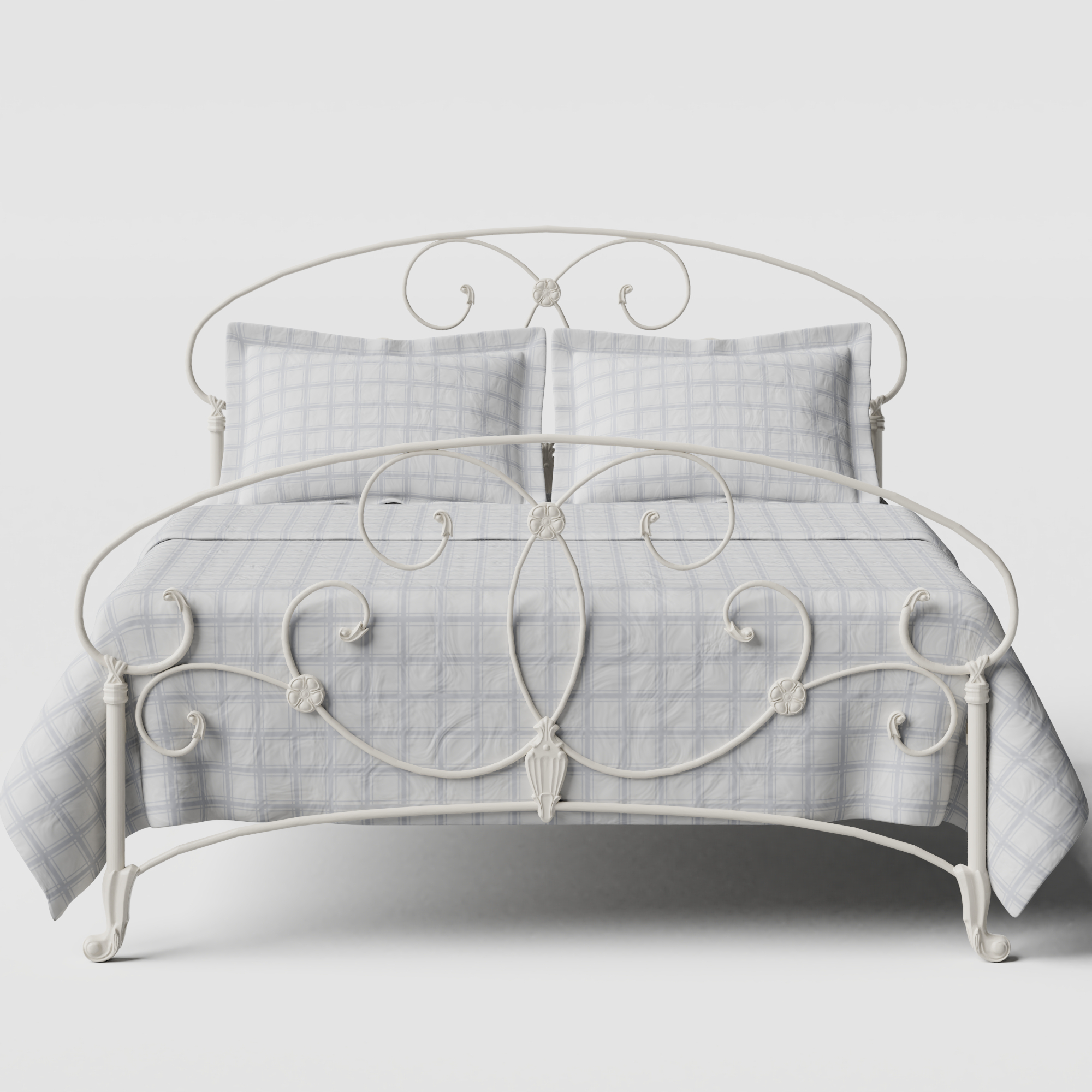 Arigna iron/metal bed in ivory