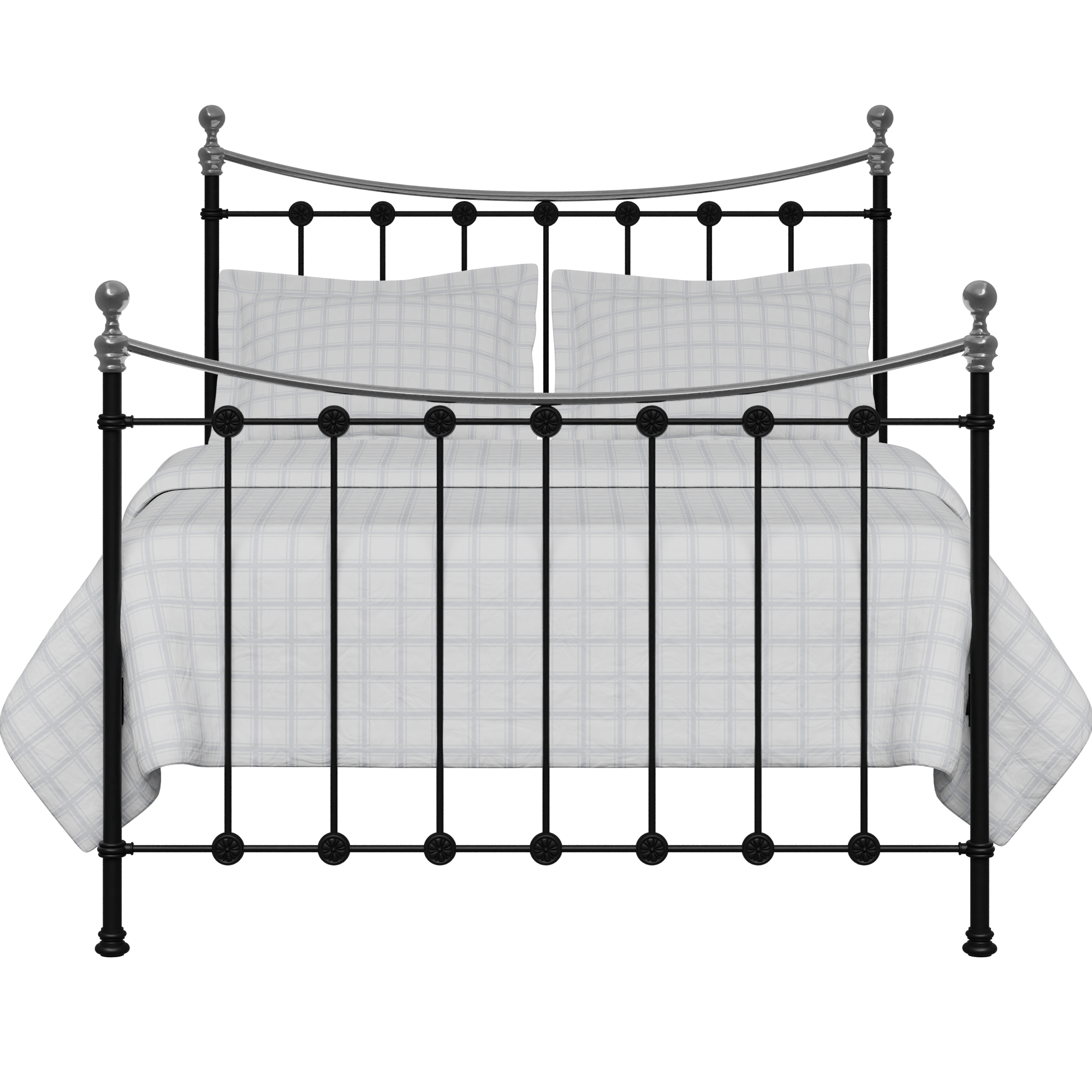 Carrick Chromo iron/metal bed in black