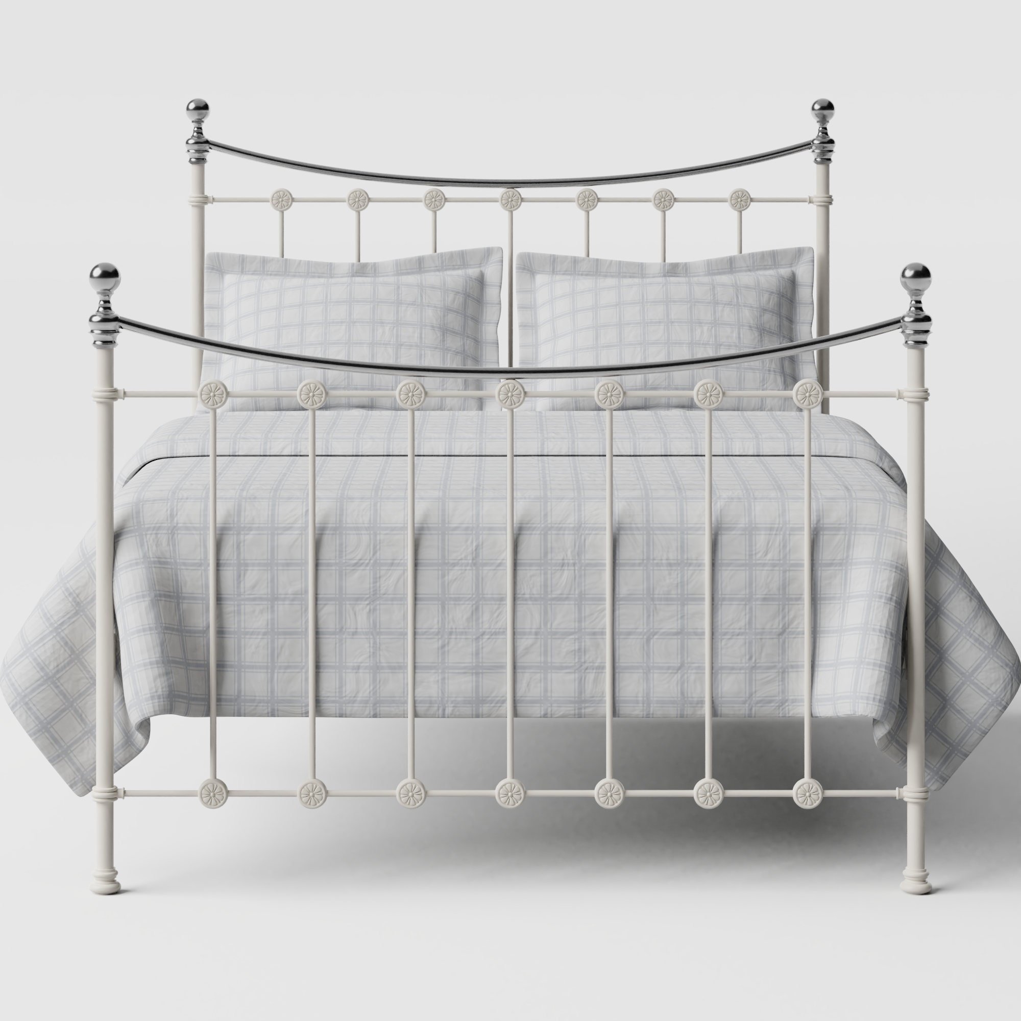 Carrick Chromo iron/metal bed in ivory