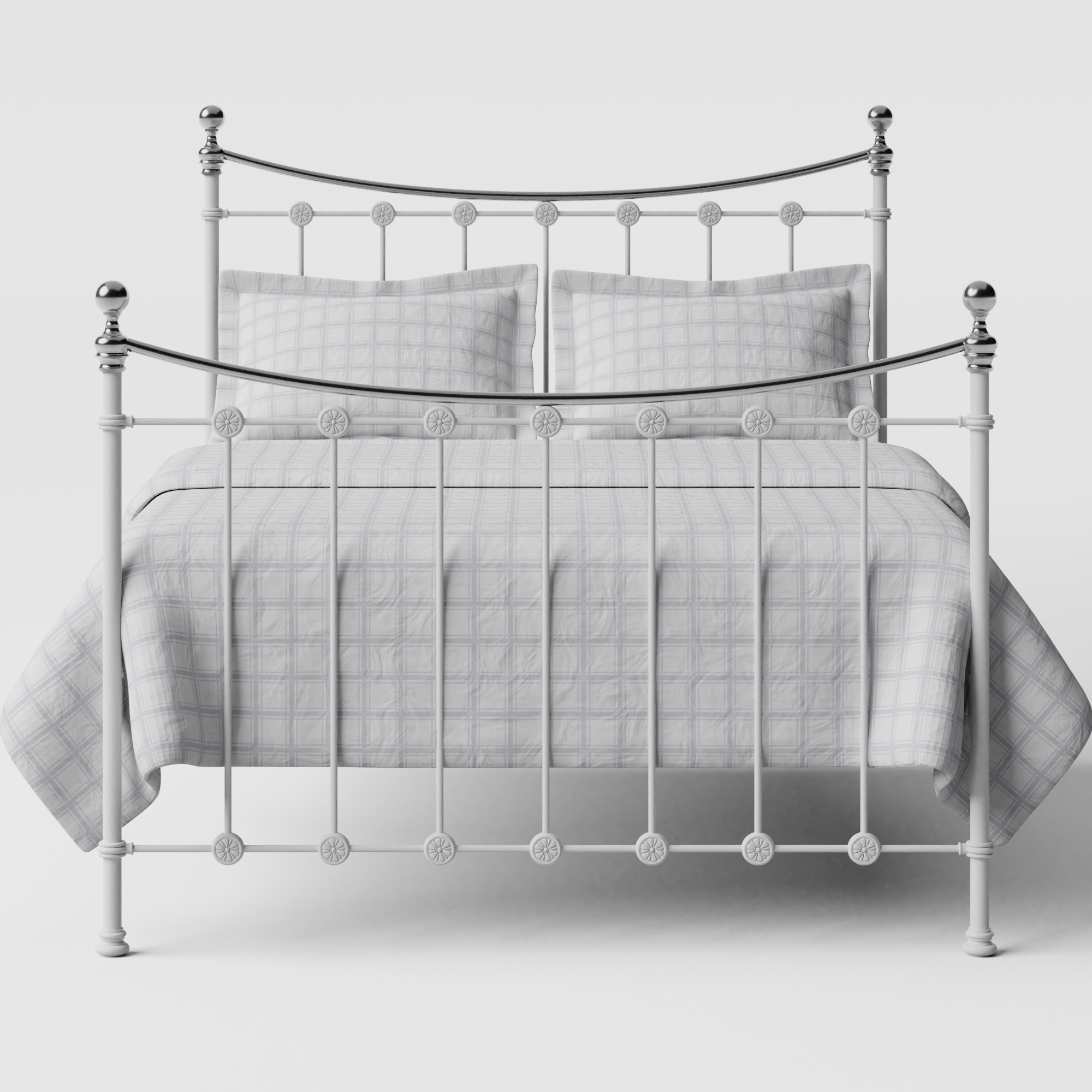 Carrick Chromo iron/metal bed in white