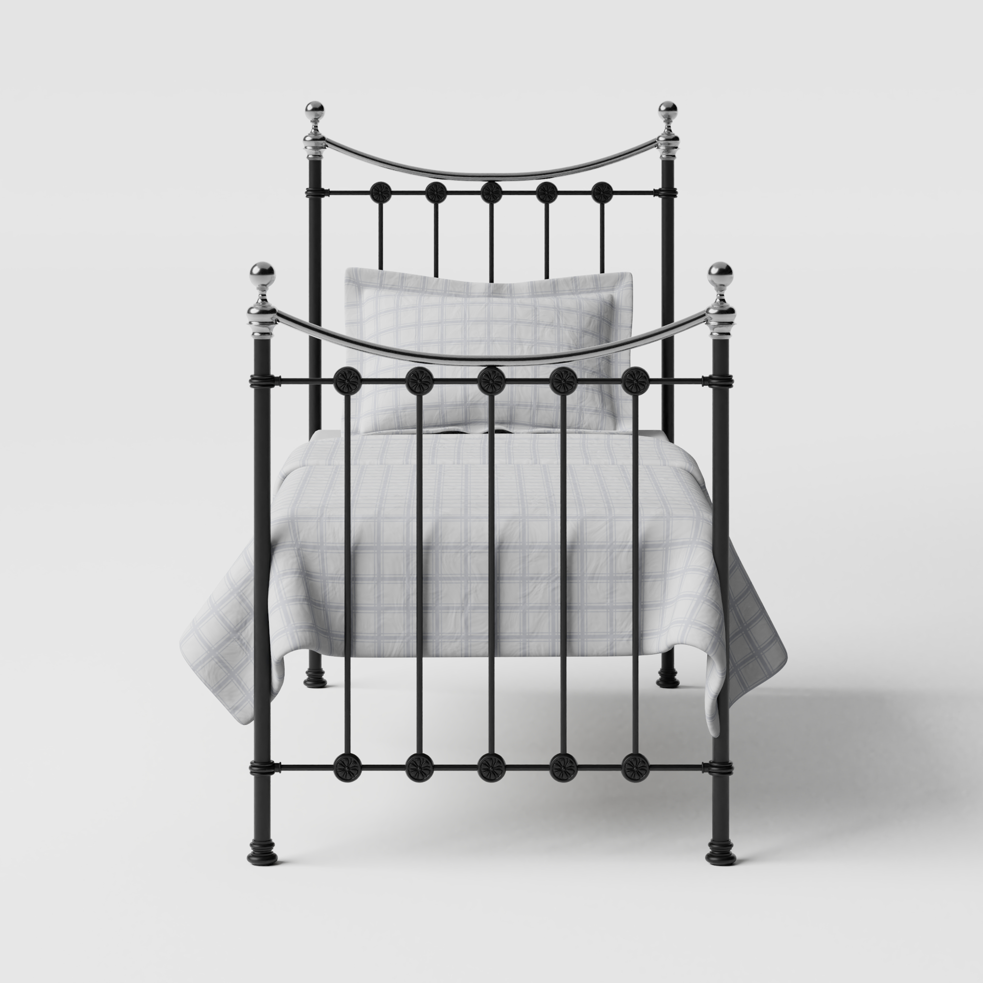Carrick Chromo iron/metal single bed in black