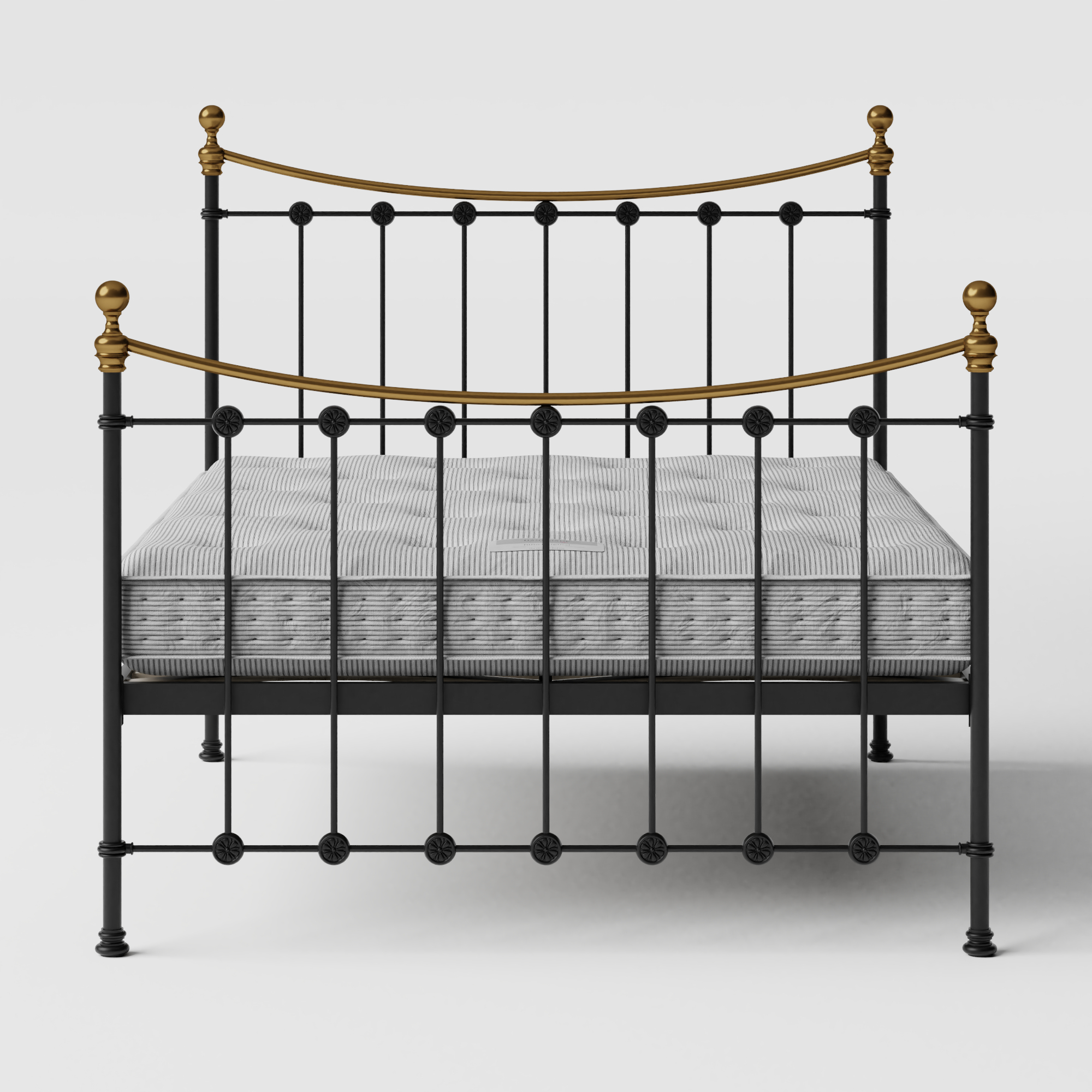 Carrick iron/metal bed in black with Juno mattress