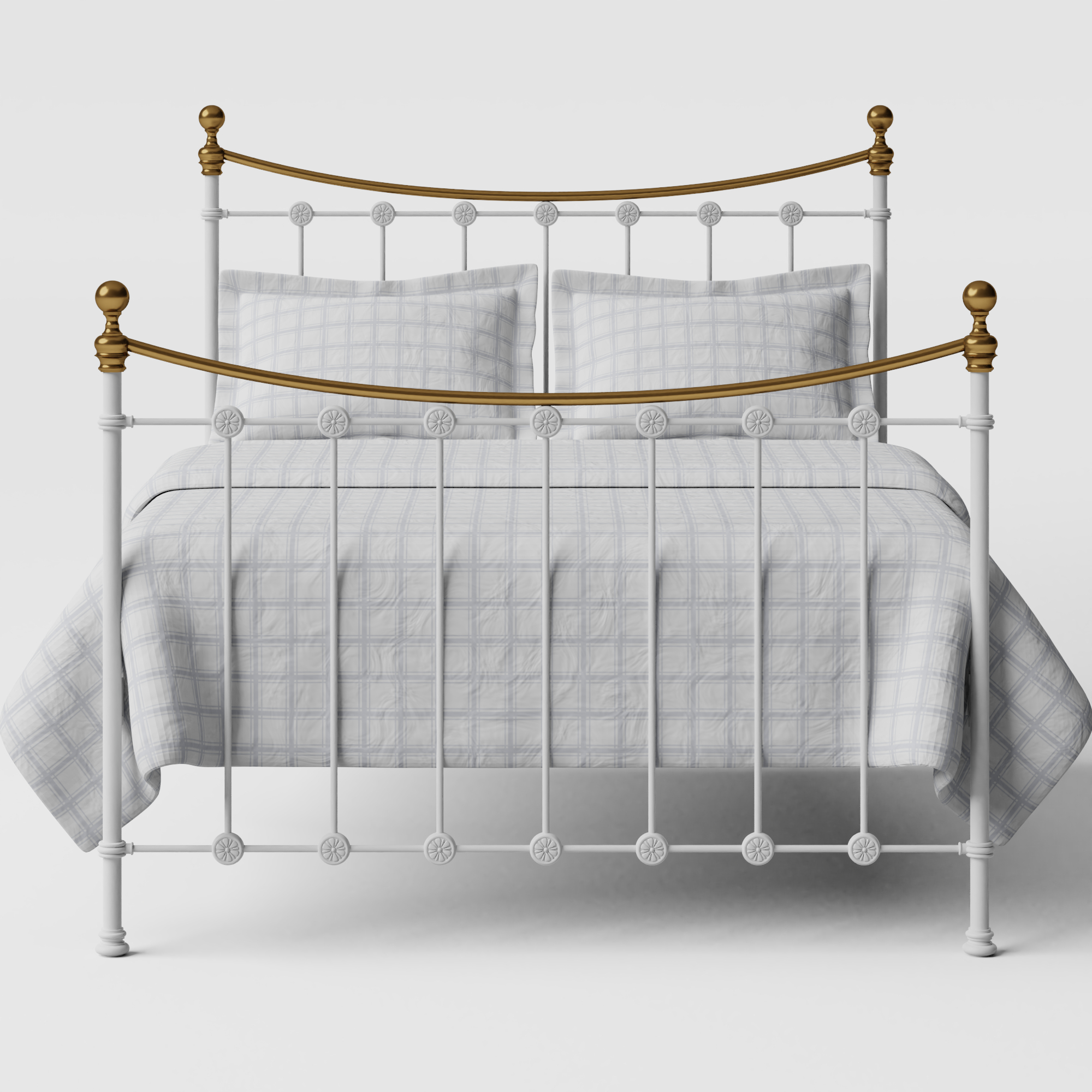 Carrick iron/metal bed in white