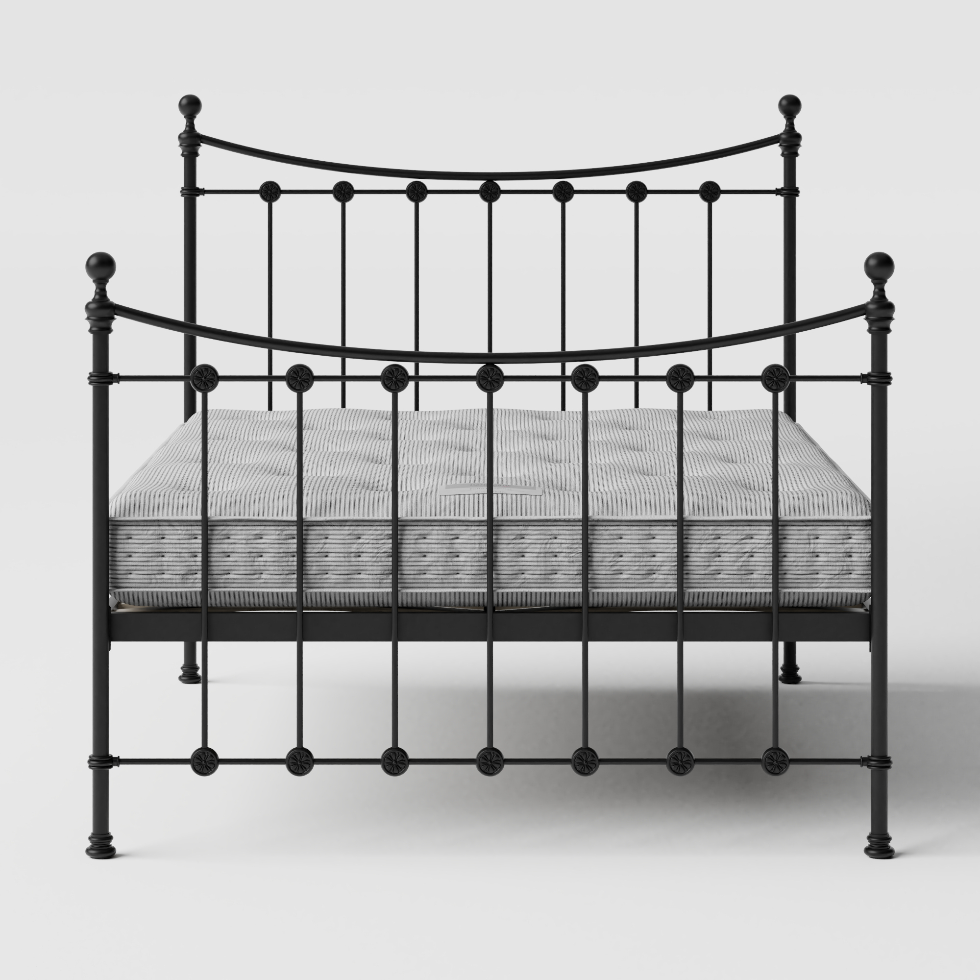 Carrick Solo iron/metal bed in black with Juno mattress