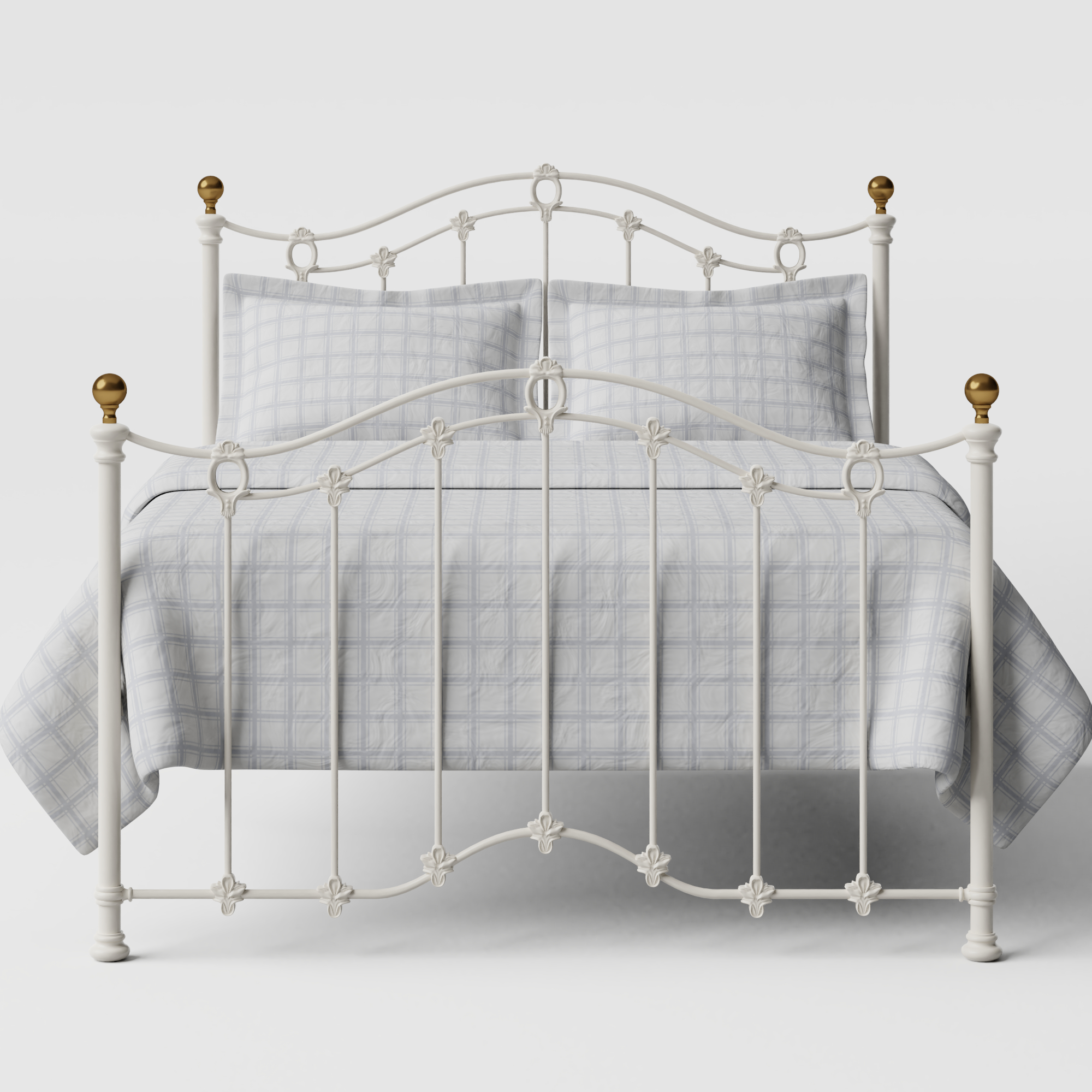 Clarina iron/metal bed in ivory