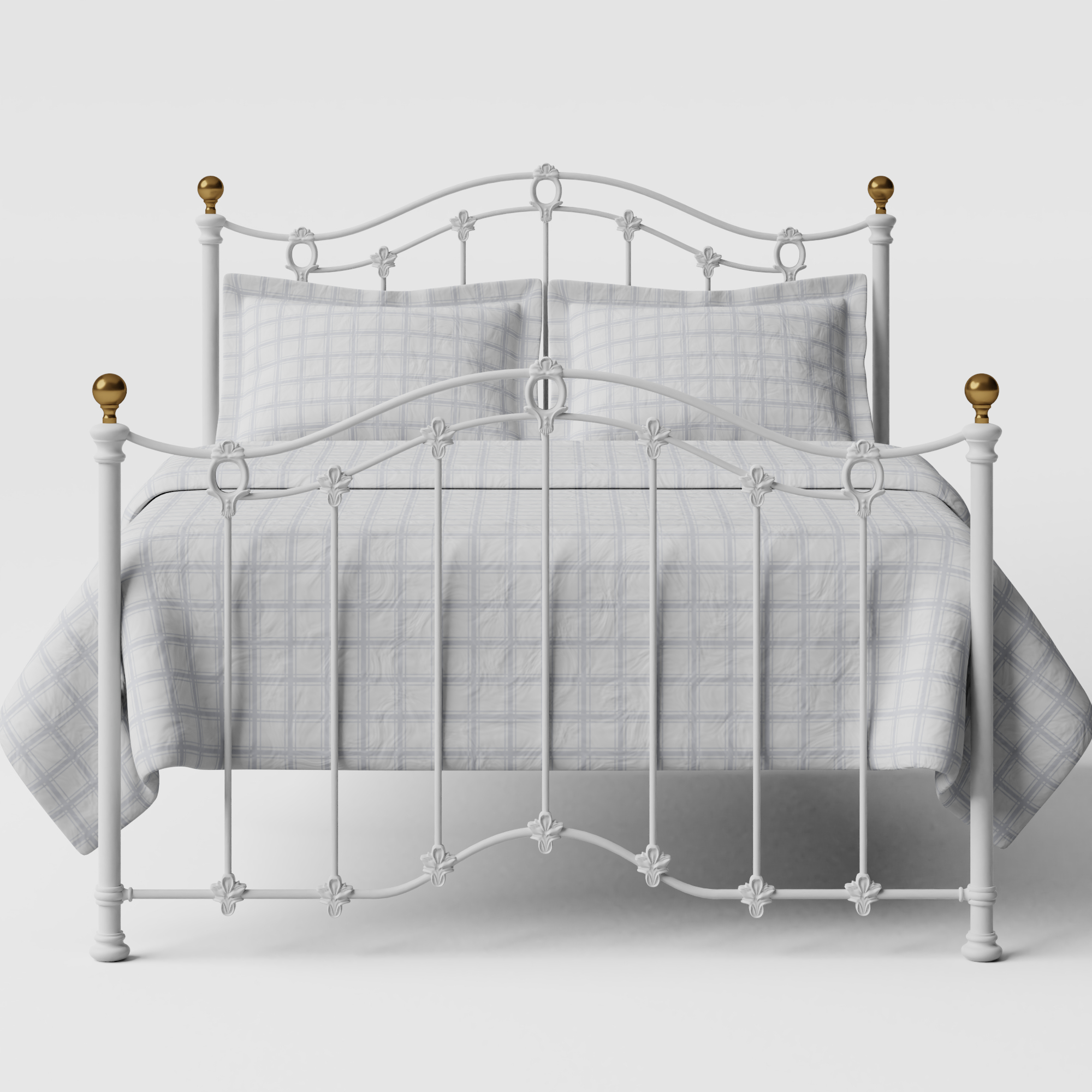Clarina iron/metal bed in white